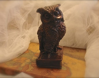 Vintage owl decor, owl decoration, owl