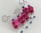PINK Skull Set of 5 -  Crystal Stitch Markers