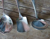 Vintage Silver Plated Spoons - Sugar, Sauce ladle , Berry Spoon