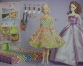 SALE-SALE  McCalls 6903   Barbie doll clothes and accessories sewing pattern