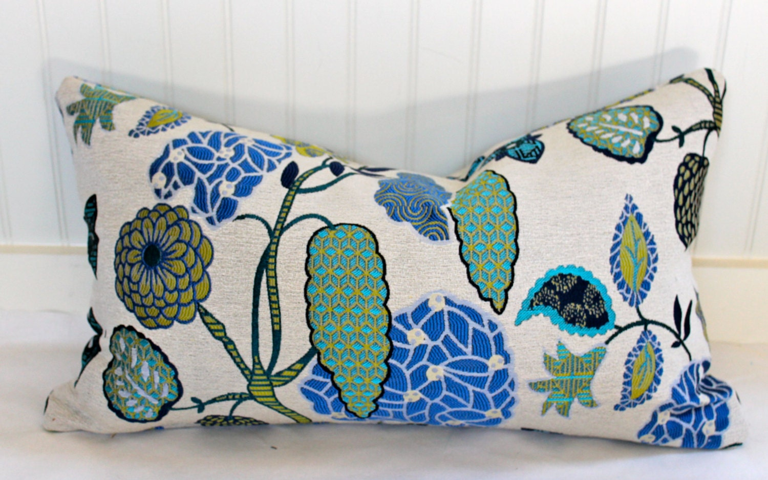 Navy And Teal Throw Pillows: Teal Turquoise Navy Blue Citrine And Beige Pillow Cover