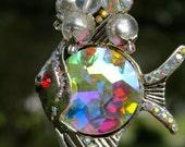 TROPICAL FISHY Tree Jewelry Christmas Ornament Crystal AB Fish