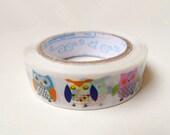 Cute Owl Plastic Tape - 15m,Animal Tape,Circus Tape,Diary Tape