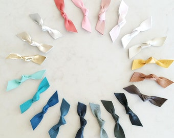 Leather Knot Hair Clip - pick your color