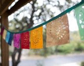 Hand Dyed Batik Fabric Decorative Wedding Garland Bunting Banners Made to Order