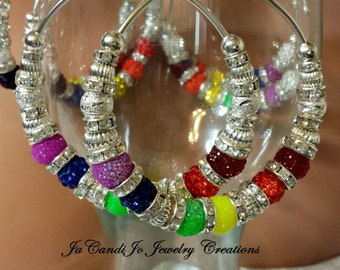 "PRIDE N Joy 2.5"" Candi Hoops( Express your Pride)"