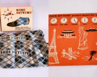 Vintage Shoe Mittens Shoe Protectors For Traveling Argyle Socks Men's Accessory Gift for Him
