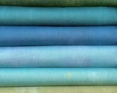 Grunge By Basic Grey For Moda Fabrics 6 Cool Bright Fat Quarters 100 Percent Premium Cotton Quilting Fabric