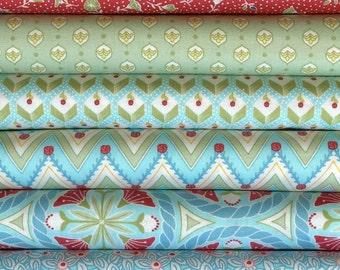 Pedal Pushers By Lauren & Jessi Jung For Moda Fabrics 6 Fat Quarters Bundle