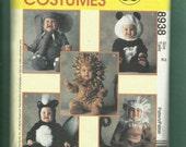 McCalls 8938 Little Kids Animal Costumes Pattern Skunk Elephant Panda & More Size 2