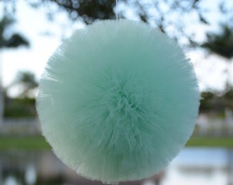 Mint Green tulle poms Party decorations, weddings, baby showers, room decor