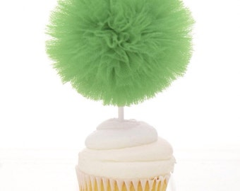 Green Cupcake Toppers