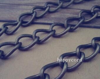 6.5ft antique bronze necklace pendant  Chain 10mmx14mm