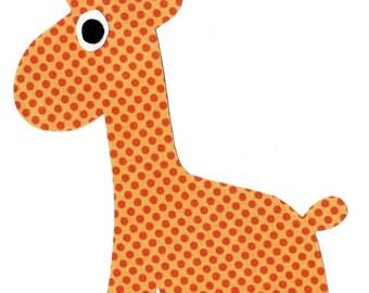 Giraffe iron on fabric applique DIY - large