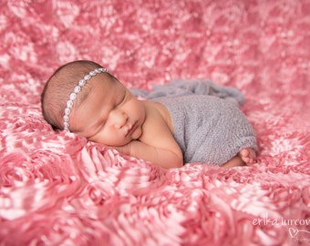 Rhinestone headpiece, silver or gold with rhinestone, newborn headband, elegant photo prop