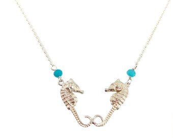 Seahorse Necklace Sterling Silver