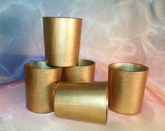 12 Gold Votive Candle Holders Weddings and Parties, Glitter / Shimmer /Wedding  Reception Centerpiece Decoration / Gold Wedding /