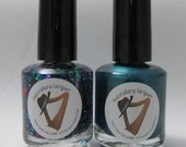 Purim duo (2 full size 15ml bottles) indie polish set by Fedoraharp Lacquer