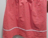 Custom Wide elastic waist red polka dot skirt Sarah from Chuck