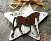 Personalized Horse Ornament-Horse Ornament-Horse Keepsake Ornament-Horse Lover Christmas Gift