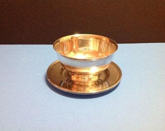 Vintage Gorham silverplated sauce/gravy bowl