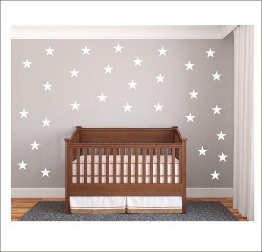 sterne wall decals vinyl sterne aufkleber kinderzimmer. Black Bedroom Furniture Sets. Home Design Ideas