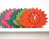 "The ""Uber Cute Hedgehog"" designer wall mounted clock from LeLuni"