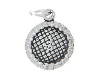 Sterling Silver Trampoline Charm (3d Charm)