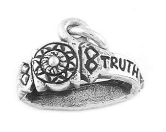 Sterling Silver Armor of God - Belt Truth Charm (3d charm)