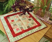 QUILT Flower Prints Soft Colors WALL Hanging or TABLE runner