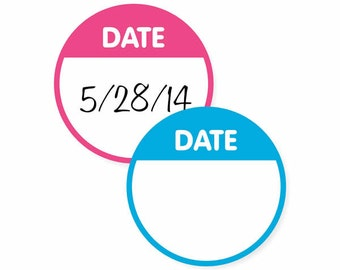 Write-On Round Date Labels
