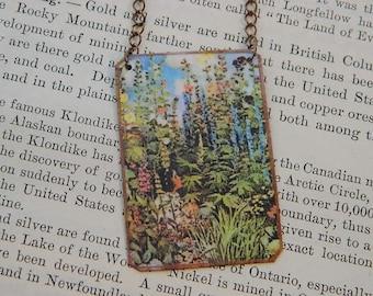 Art necklace Jessie Willcox Smith mixed media jewelry