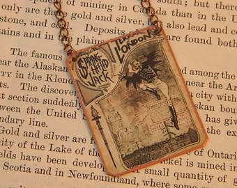Penny Dreadful necklace Penny Dreadful jewelry Springheeled Jack mixed media jewelry