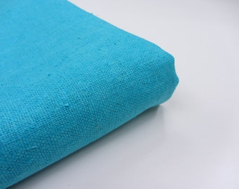 Blue thick matka silk heavy Indian silk fabric nr 572 fat quarter