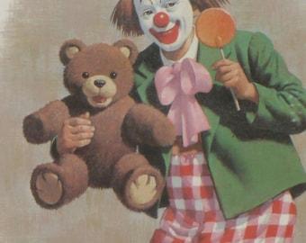 Ringo Clown Art Print Framed Vintage Arthur Sarnoff
