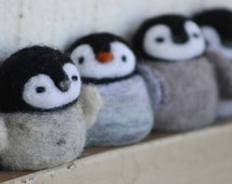Little penguin needle felted