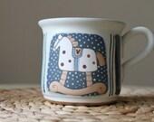 Large coffee mug with rocking pony