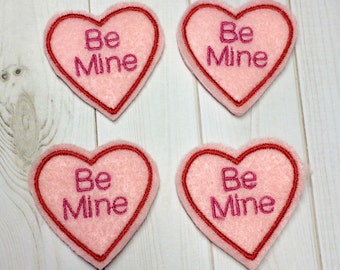 Set of 4 valentine felties