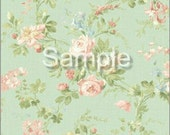 "Dollhouse Miniature Wallpaper, ""Peaches and Cream"", Scale One Inch"