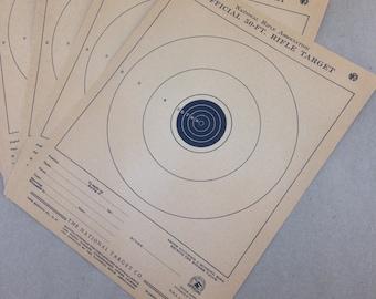 Lot of 5 - Vintage NRA Bullseye Target - Paper Rifle Target - National Target A1 Shooting target - Vintage rifle target - Hunting - Higgins