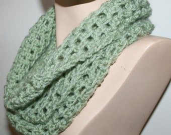 Lacy Crochet Scarf Pattern Long Chunky Cowl Infinity Scarf 3 Sizes Light Airy Woven Look GUIDE using your favorite crochet hook PDF Download