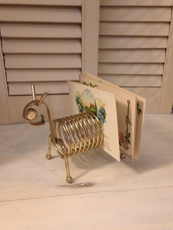 Metal Envelope Wall Decor : Vintage metal wire card holder envelope by stillwatertreasures