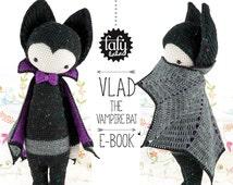VLAD the vampire bat - lalylala amigurumi crochet PATTERN - ebook