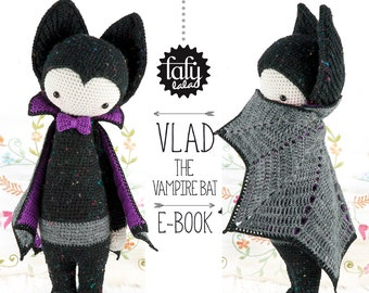 VLAD the vampire bat • lalylala crochet pattern / amigurumi