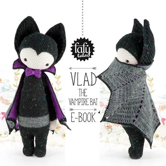 Amigurumi De Batman Patron : Murcielago vampiro VLAD lalylala patron de crochet