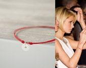 Red String Bracelet. Sterling Silver Initial Bracelet. Personalized. Kabbalah Bracelet. Lucky Charms. Unisex, Women, Men. Friendship Gifts