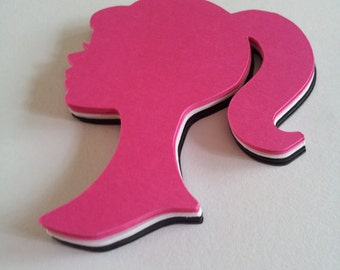 15 Girl face silhouette cut outs