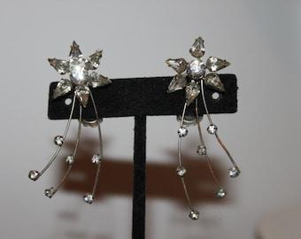 1920 Shooting Star Rhinestone Earrings