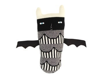 Drake the Bat - soft knitted toy