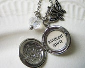 anne of green gables locket necklace with kindred spirit quote pendant  bridesmaid gift necklace for women book jewelry pendant